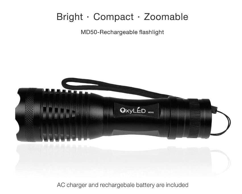 OxyLED Cree 500 Lumen Bright LED Flashlight Torch