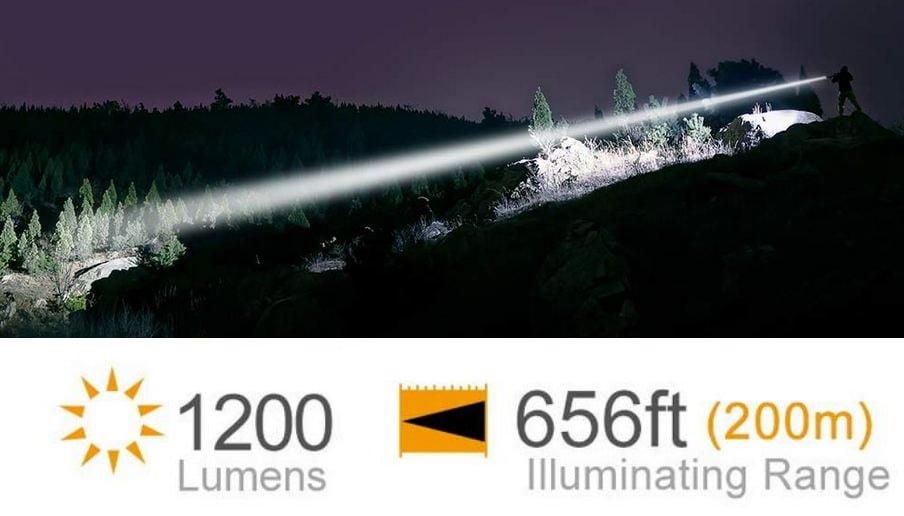 feyachi wl15 656ft range and 1200 lumens
