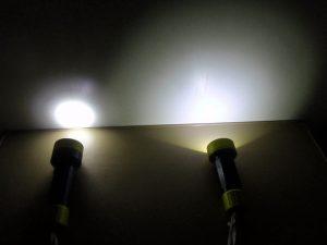 spot flashlight vs throw flashlight comparison
