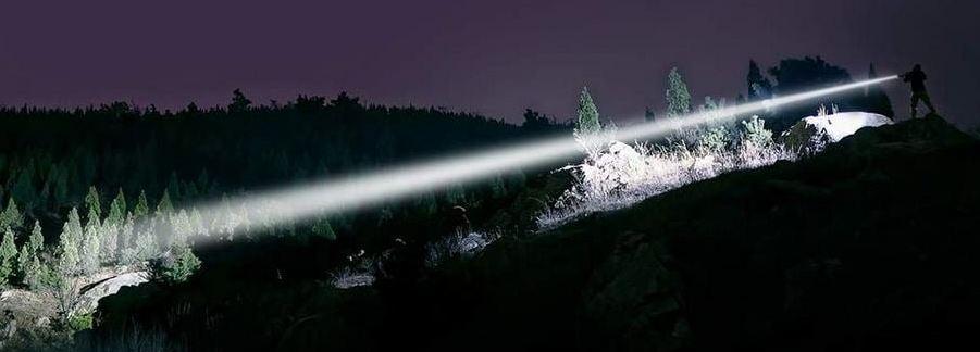 long throw flashlight science